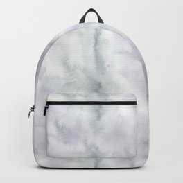 Abstract modern gray lavender watercolor pattern Backpack