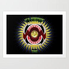It's Morphin' Time - Green Ranger Art Print