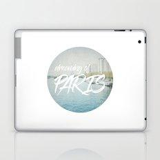 Dreaming of Paris - Circle Art Laptop & iPad Skin