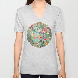 Gilt & Glory - Colorful Moroccan Mosaic Unisex V-Neck