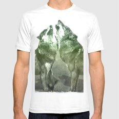 Wolves MEDIUM White Mens Fitted Tee
