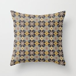 Geometric Tile Pattern Throw Pillow