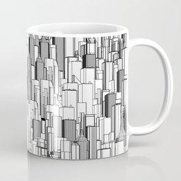 Tall city B&W / Lineart city pattern Coffee Mug