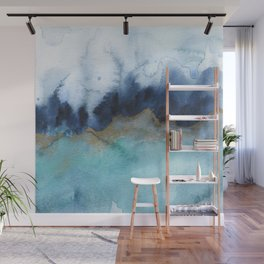 Mystic abstract watercolor Wall Mural