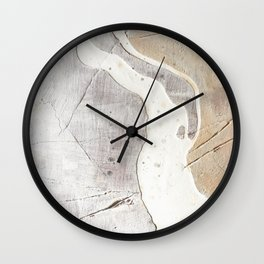 Feels: a neutral, textured, abstract piece in whites by Alyssa Hamilton Art Wall Clock