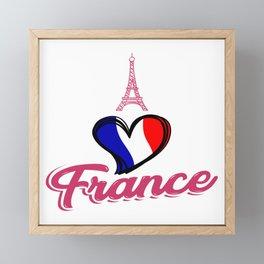 i love france tshirt - Eiffel Tower - Gift idea Framed Mini Art Print