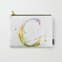 Letter C watercolor - Watercolor Monogram - Watercolor typography - Floral lettering Carry-All Pouch