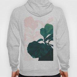 Blush Green Fiddle Leaf Dream #1 #tropical #decor #art #society6 Hoody