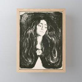 """Edvard Munch """"The Brooch. Eva Mudocci"""", 1903 Framed Mini Art Print"""