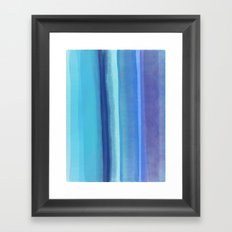 blu Framed Art Print