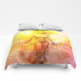 The Girl with the Sun in Her Hair - Summer Bloom Comforters