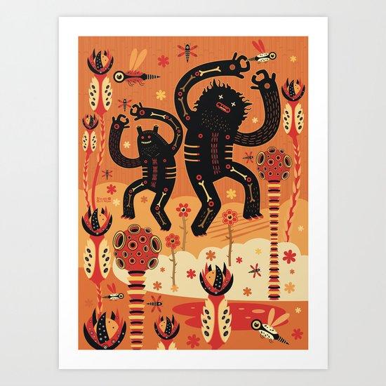 Les danses de Mars Art Print