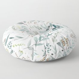 Eucalyptus pattern Floor Pillow