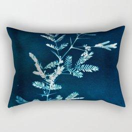 Blue gazes from the cat windows Rectangular Pillow