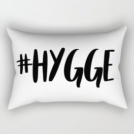 #hygge - scandi quote trend hashtag Rectangular Pillow