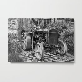 Antique Fordson Tractor of the type your Great Grandpa drove! Metal Print