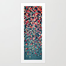 drop down Art Print