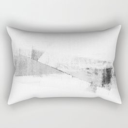Grey and White Minimalist Geometric Abstract Rectangular Pillow