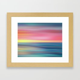 Abstract Seascape 12 Framed Art Print
