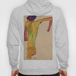 "Egon Schiele ""Male Nude, Propping Himself Up"" Hoody"