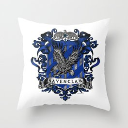 Ravenclaw Color Crest Throw Pillow