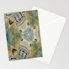 Ice climbing Stationery Cards