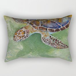 Caribbean Sea Turtle Rectangular Pillow