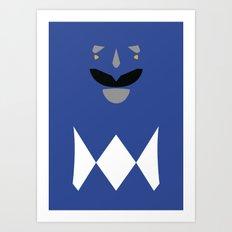 Power Rangers - Blue Ranger Minimalist Art Print