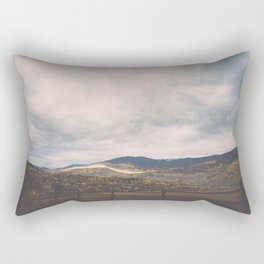 Horse Pasture on the side of a mountain in Colorado Rectangular Pillow