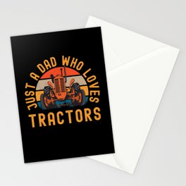 Just A Dad Who Loves Tractors Stationery Cards