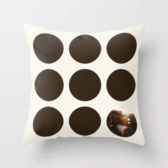 Frozen Puddle Throw Pillow