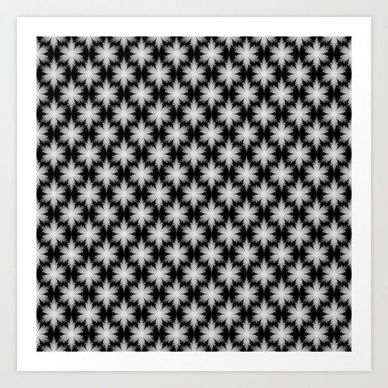 Fractal Snowflakes Art Print