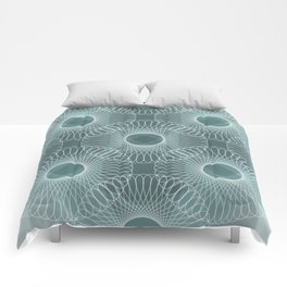 Circled in Shades of Teal Comforters