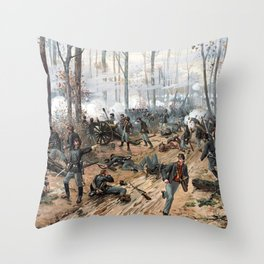 The Battle of Shiloh -- Civil War Throw Pillow