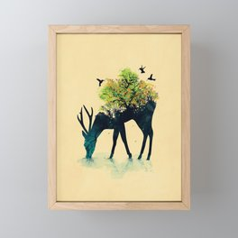 Watering (A Life Into Itself) Framed Mini Art Print