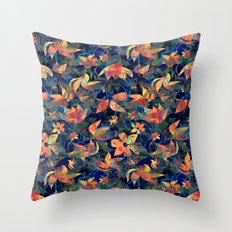 Lian blue Throw Pillow