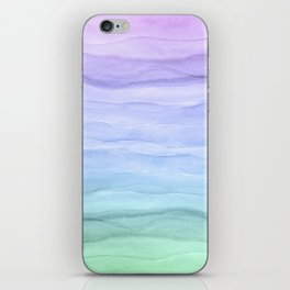 Layers Blue Ombre - Watercolor Abstract iPhone Skin