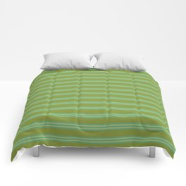 baby poo + mint stripes Comforters