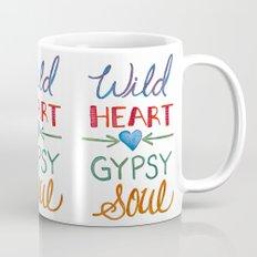 WILD HEART GYPSY SOUL, Watercolor Mug