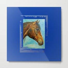 Princess Blue - Arabian Horse portrait Metal Print