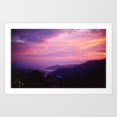 French Riviera Sunset Art Print