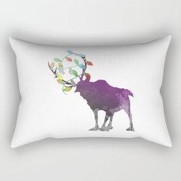 Reindeer Inspired Silhouette Rectangular Pillow