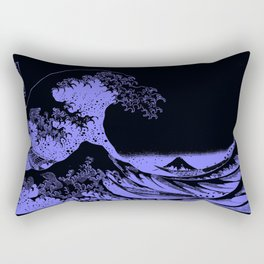 The Great Wave Periwinkle Lavender Rectangular Pillow