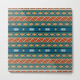 Ethnic multicolored pattern Metal Print