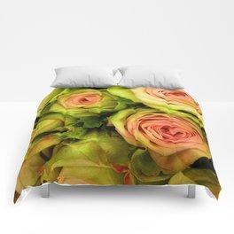 Green & Pink Bouquet Comforters