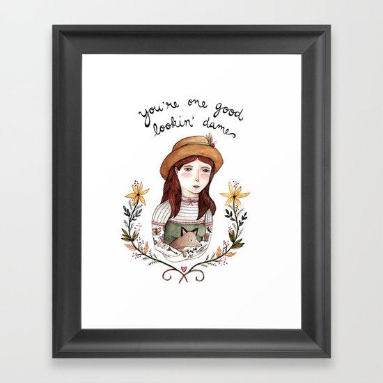 Good Lookin' Dame Framed Art Print