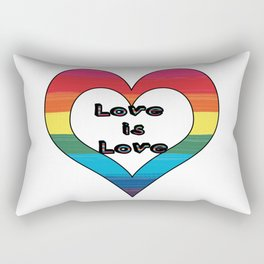 LGBT Pride-Love is Love Design Rectangular Pillow