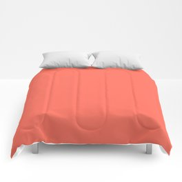 Coral Solid Color Comforters