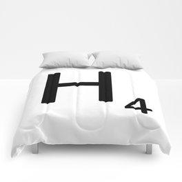 Letter H - Custom Scrabble Letter Tile Art - Scrabble H Comforters