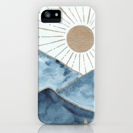 Indigo & gold landscape 1 iPhone Case